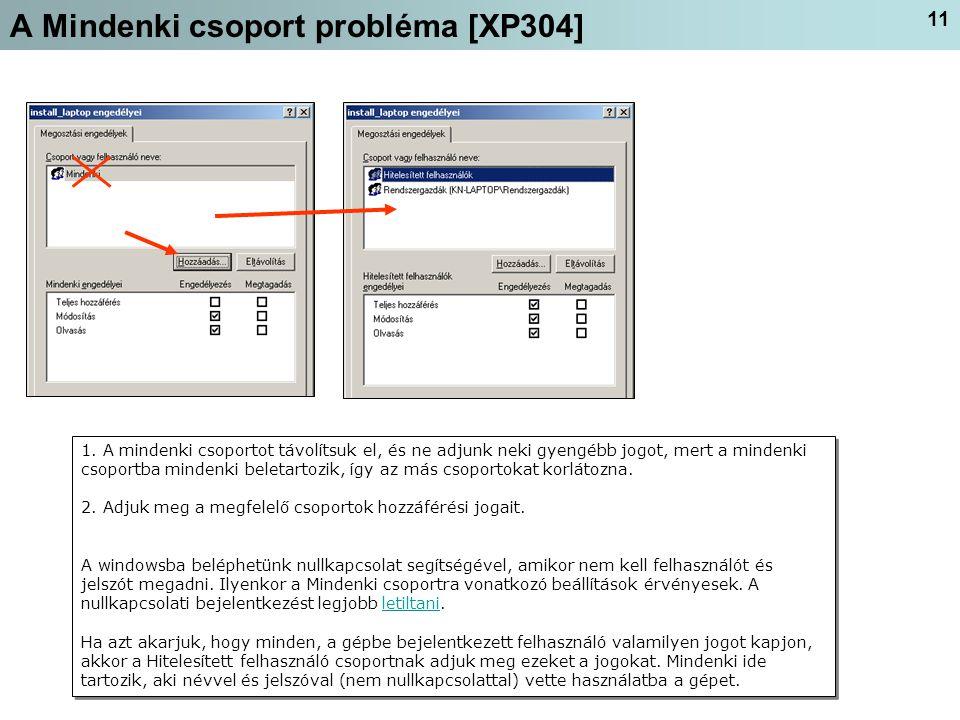 A Mindenki csoport probléma [XP304]